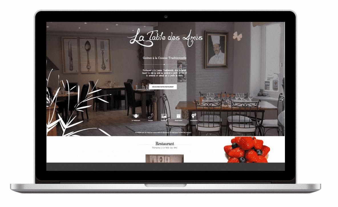 Site internet La Table des Amis