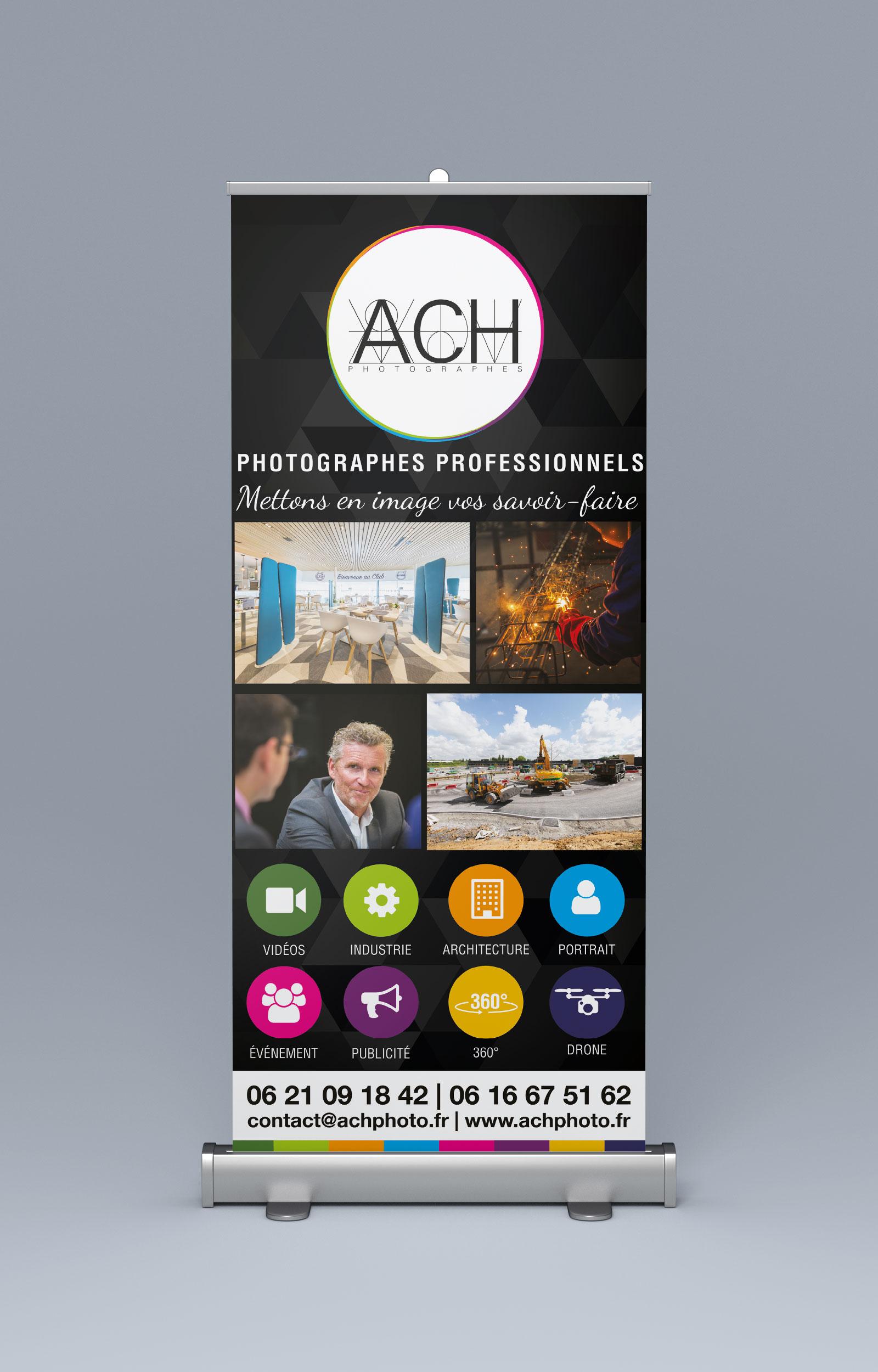 création de Roll-up pour ACH PHOTO