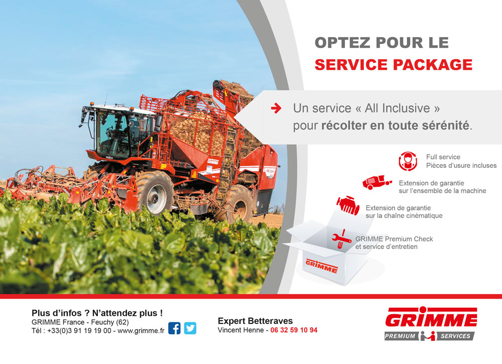 annonce pression Grimme France