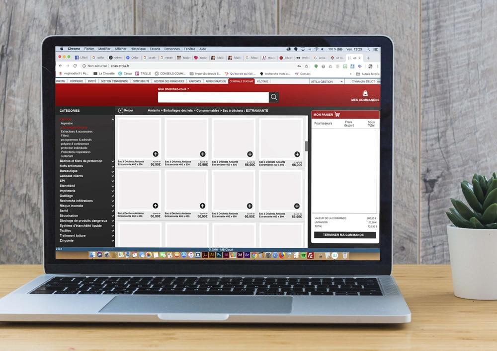 UX design pour Attila systeme