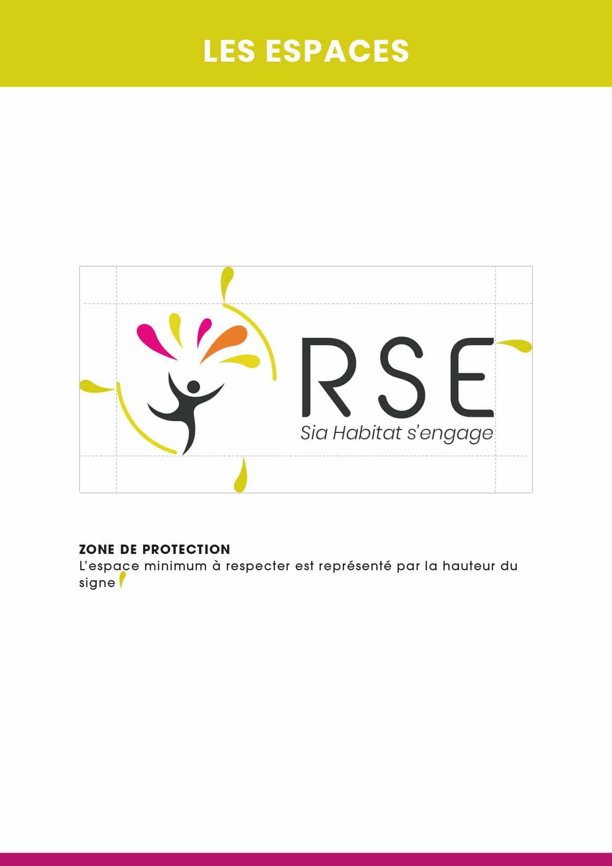 espace : typographie : charte graphique logo RSE - SIA Habitat
